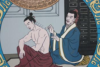 acupuncturist zet naalden